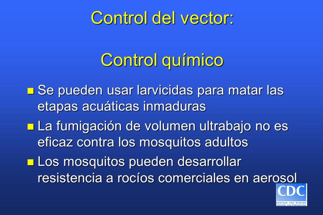 Control del vector: Control químico