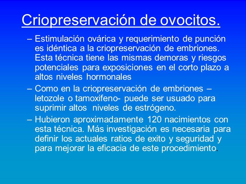Criopreservación de ovocitos.