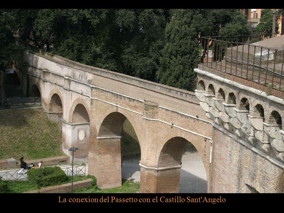 La conexion del Passetto con el Castillo Sant Angelo