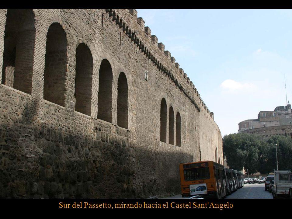 Sur del Passetto, mirando hacia el Castel Sant Angelo