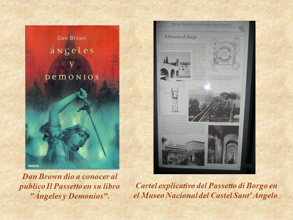 Cartel explicativo del Passetto di Borgo en