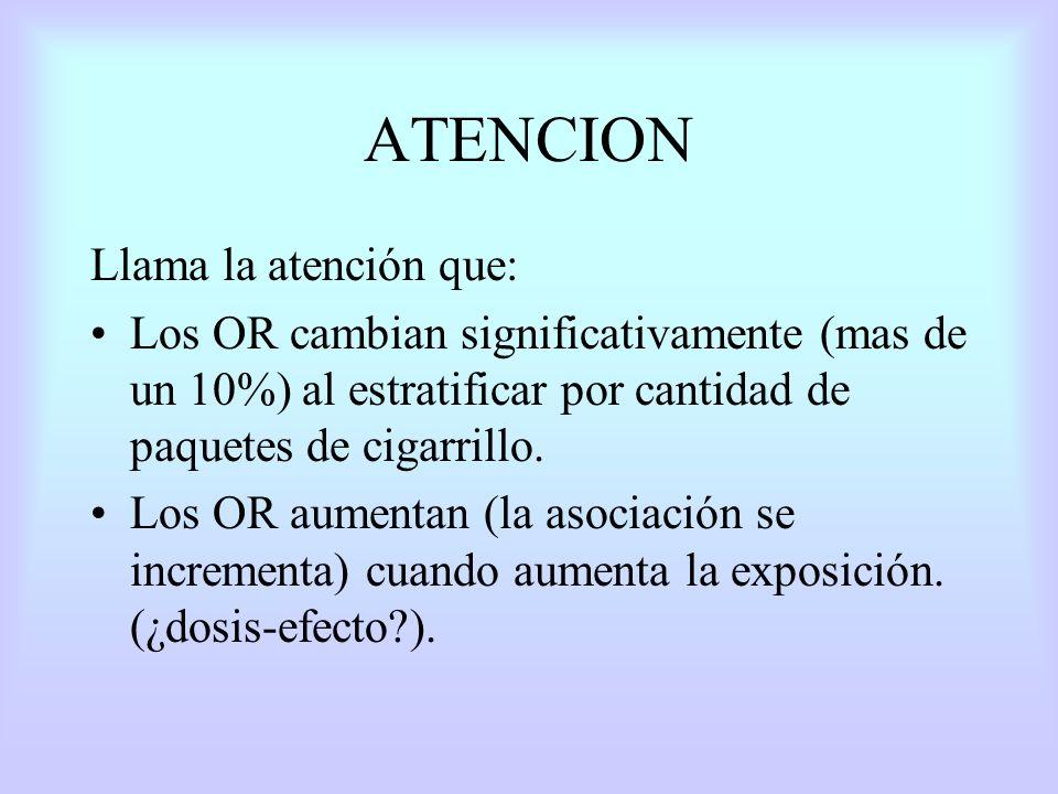 ATENCION Llama la atención que: