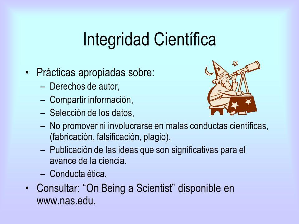 Integridad Científica