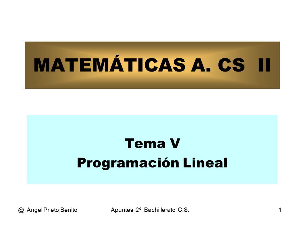 Tema V Programación Lineal