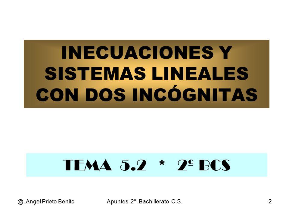 INECUACIONES Y SISTEMAS LINEALES CON DOS INCÓGNITAS