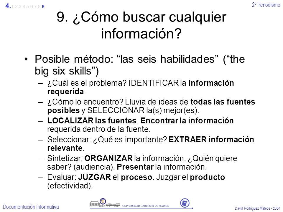 9. ¿Cómo buscar cualquier información