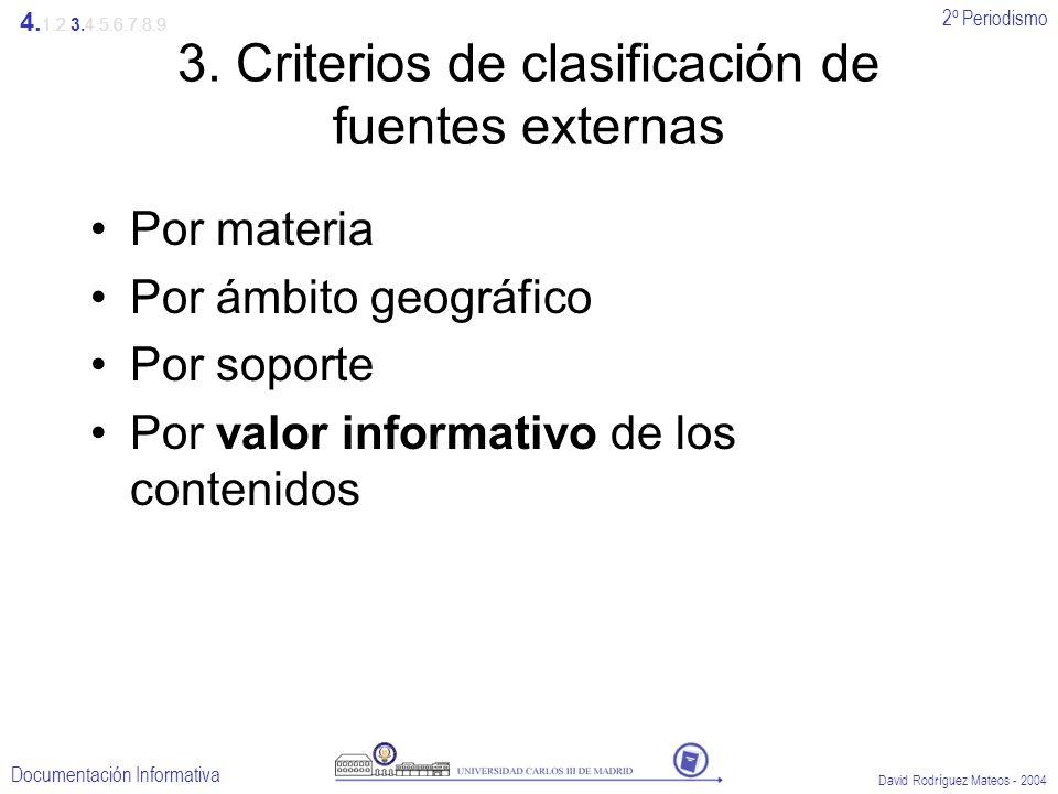 3. Criterios de clasificación de fuentes externas
