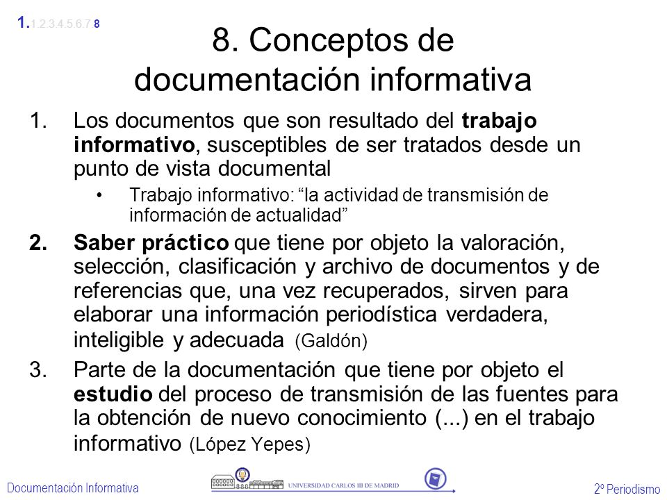 8. Conceptos de documentación informativa
