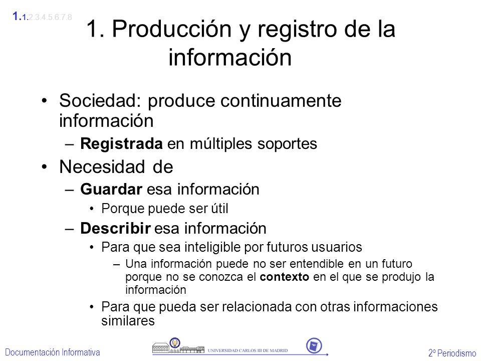 1. Producción y registro de la información
