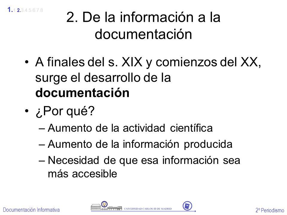 2. De la información a la documentación