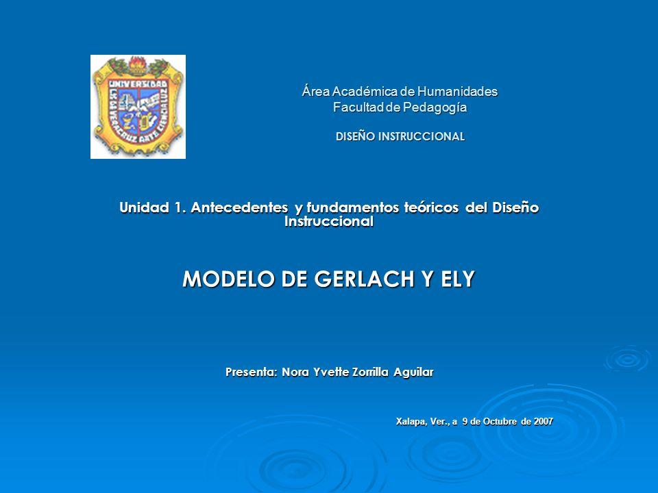 Área Académica de Humanidades Facultad de Pedagogía DISEÑO INSTRUCCIONAL