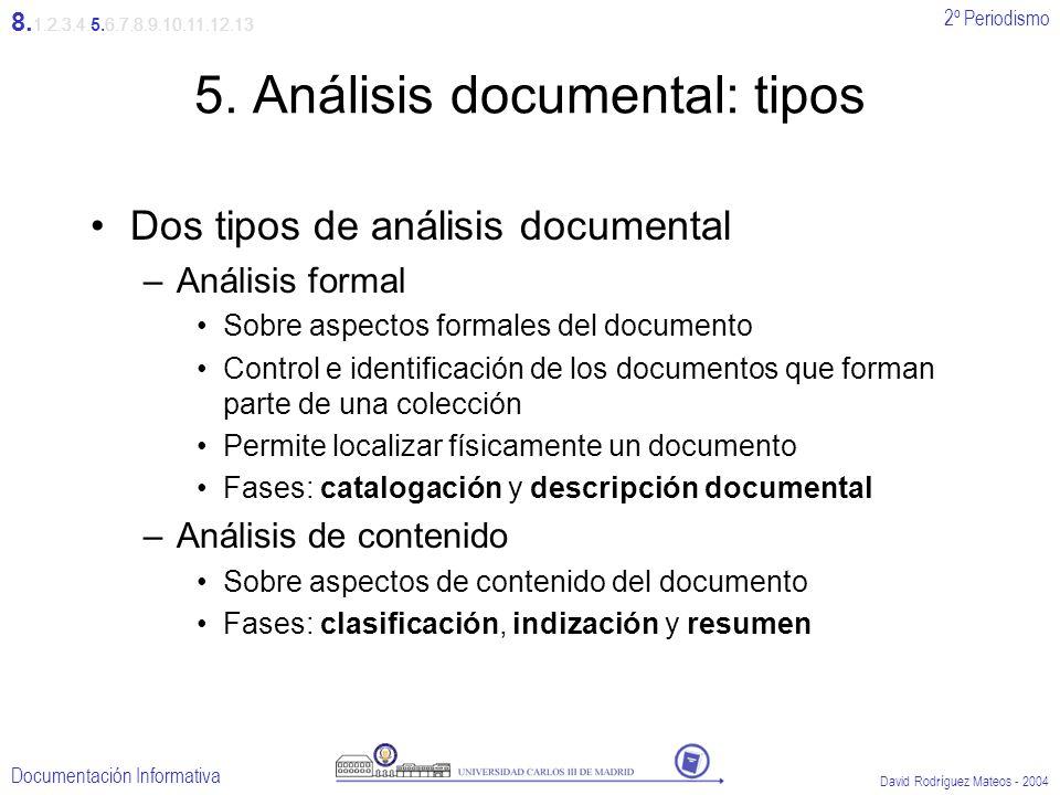 5. Análisis documental: tipos