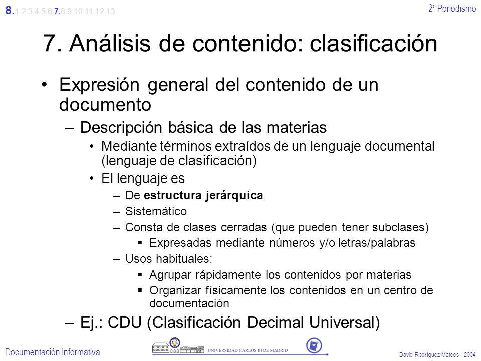 7. Análisis de contenido: clasificación