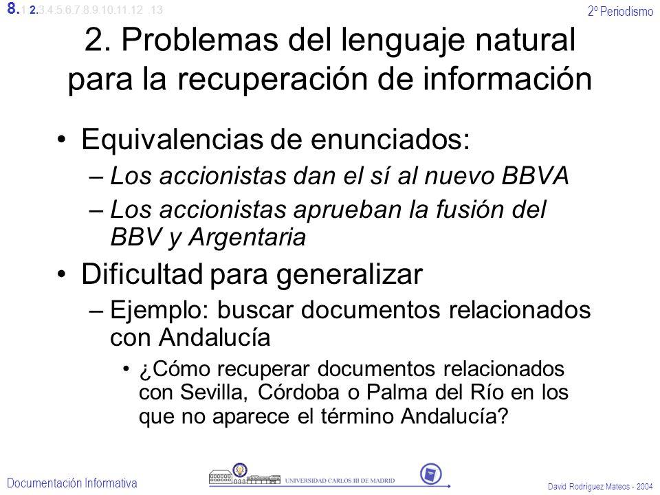 2. Problemas del lenguaje natural para la recuperación de información