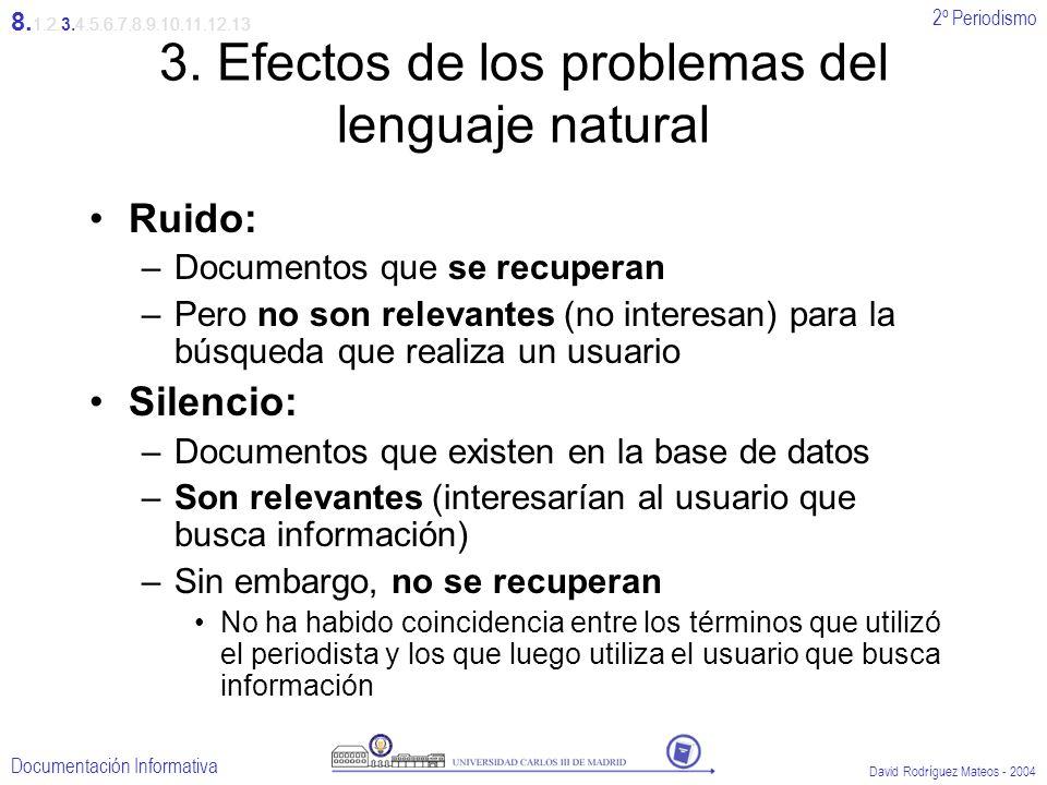 3. Efectos de los problemas del lenguaje natural