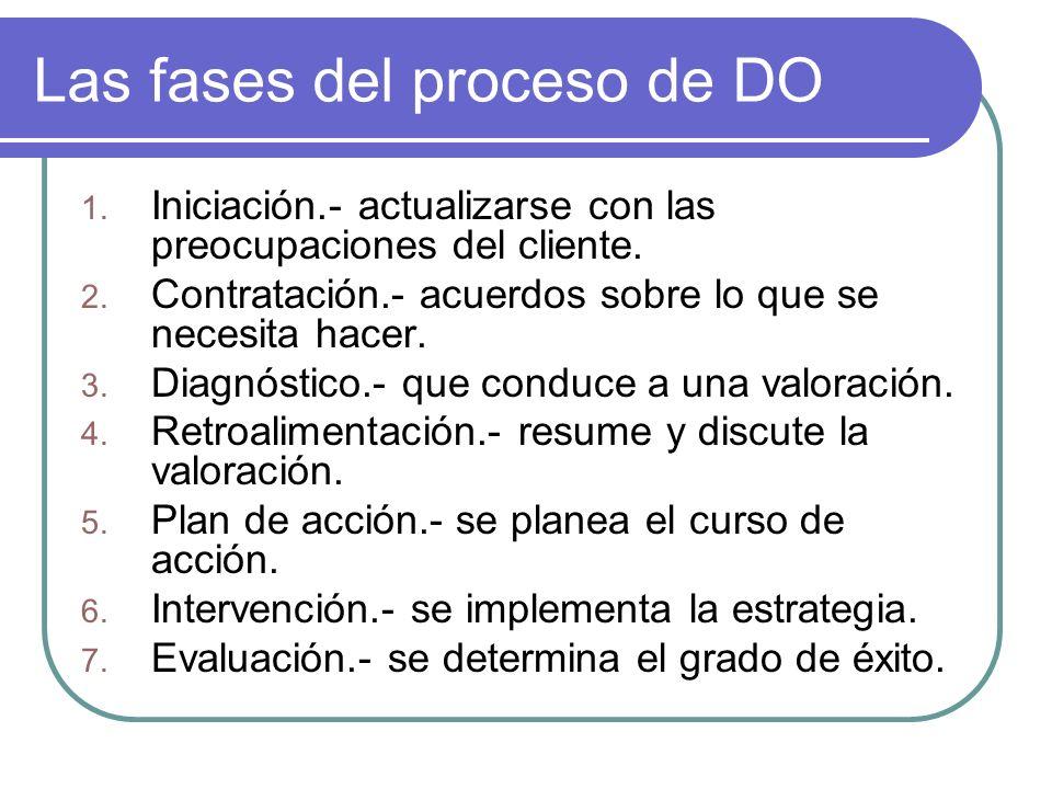 Las fases del proceso de DO