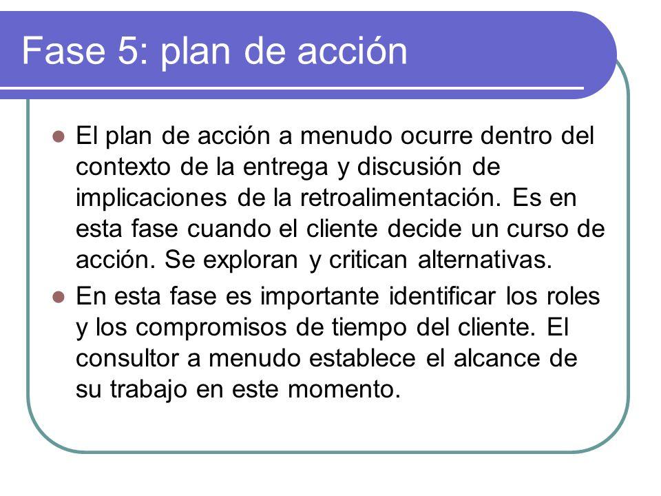 Fase 5: plan de acción