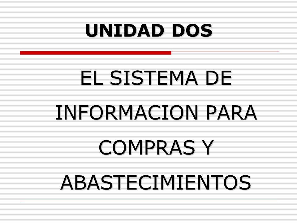 EL SISTEMA DE INFORMACION PARA COMPRAS Y ABASTECIMIENTOS