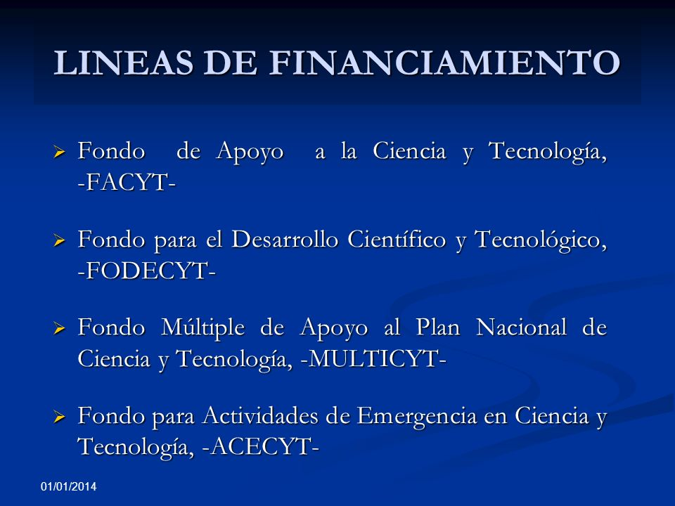 LINEAS DE FINANCIAMIENTO