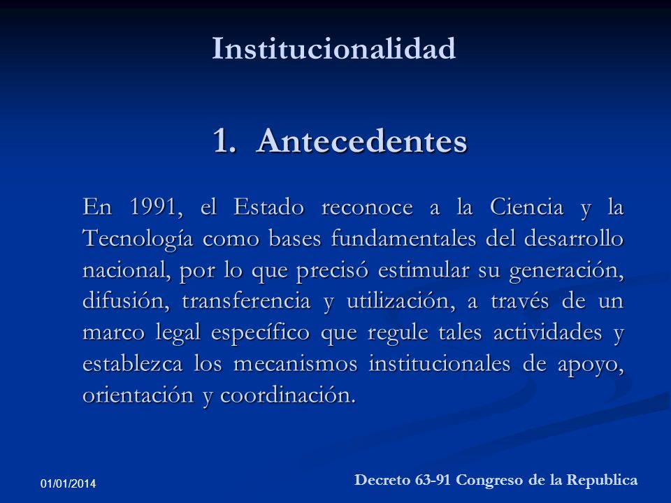 1. Antecedentes Institucionalidad