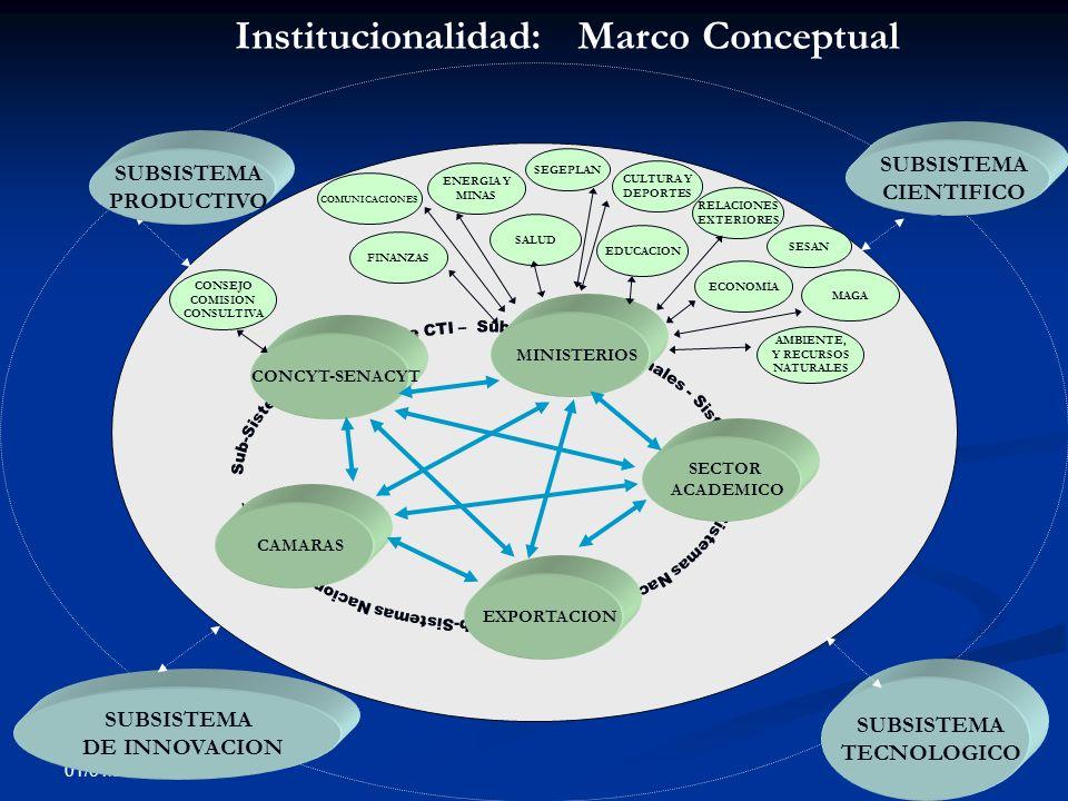 Institucionalidad: Marco Conceptual
