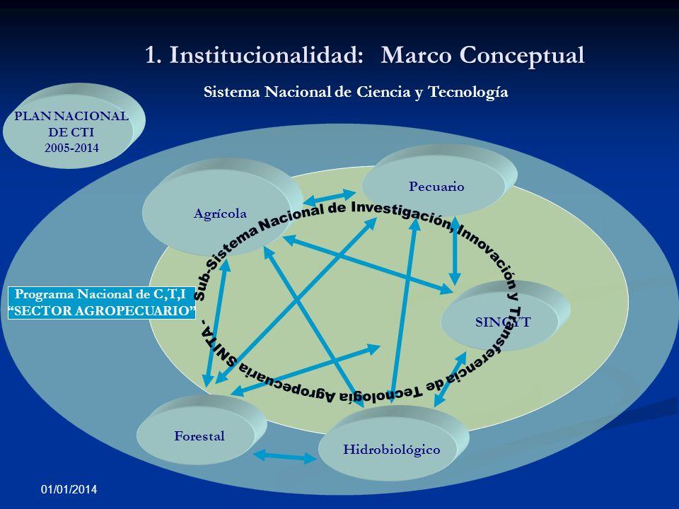 1. Institucionalidad: Marco Conceptual