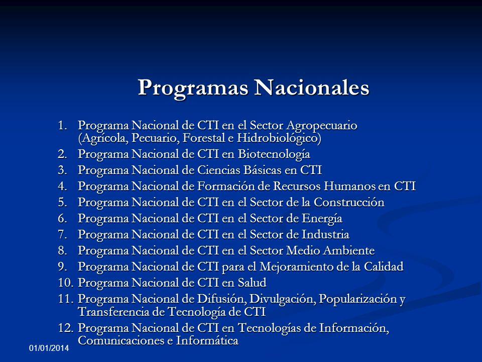 2. Programa Nacional de CTI en Biotecnología