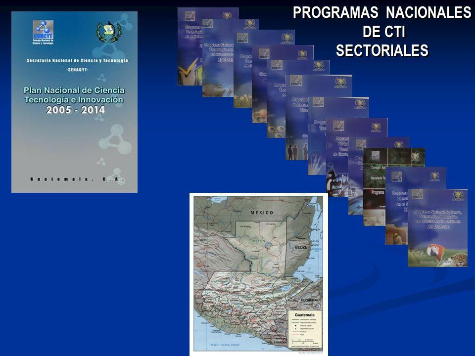 PROGRAMAS NACIONALES DE CTI SECTORIALES