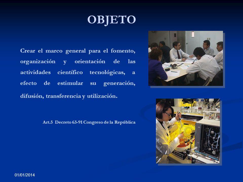 OBJETO Art.5 Decreto 63-91 Congreso de la República
