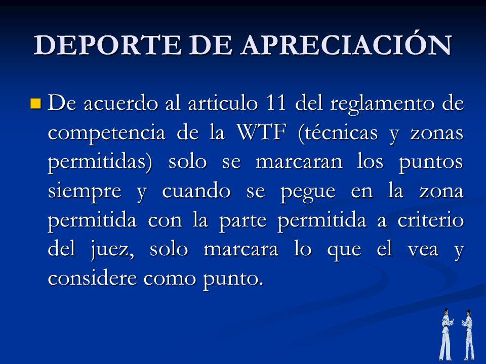 DEPORTE DE APRECIACIÓN