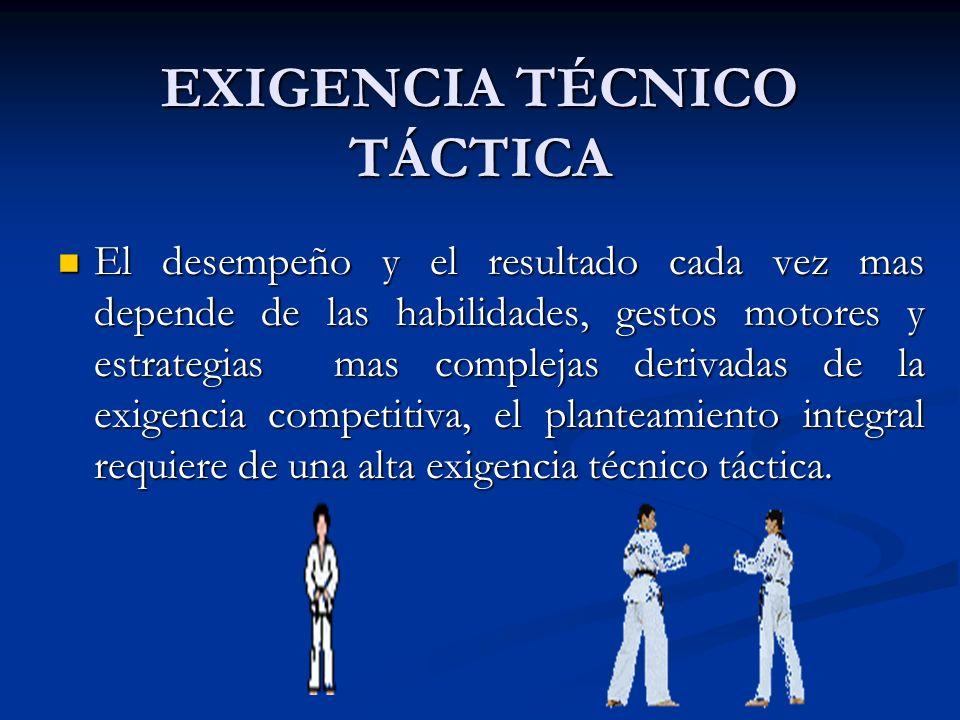 EXIGENCIA TÉCNICO TÁCTICA