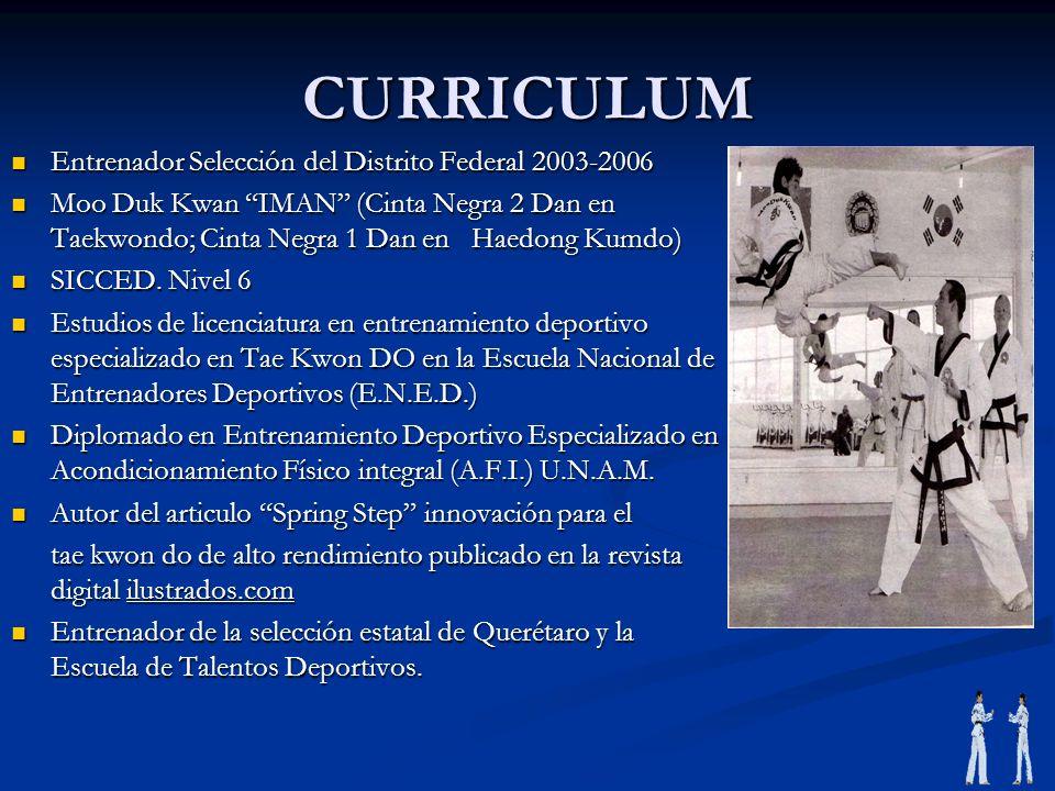 CURRICULUM Entrenador Selección del Distrito Federal 2003-2006