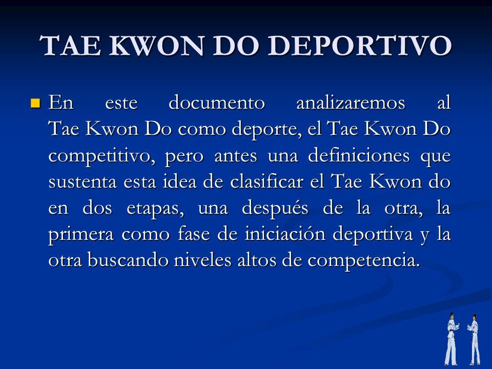 TAE KWON DO DEPORTIVO