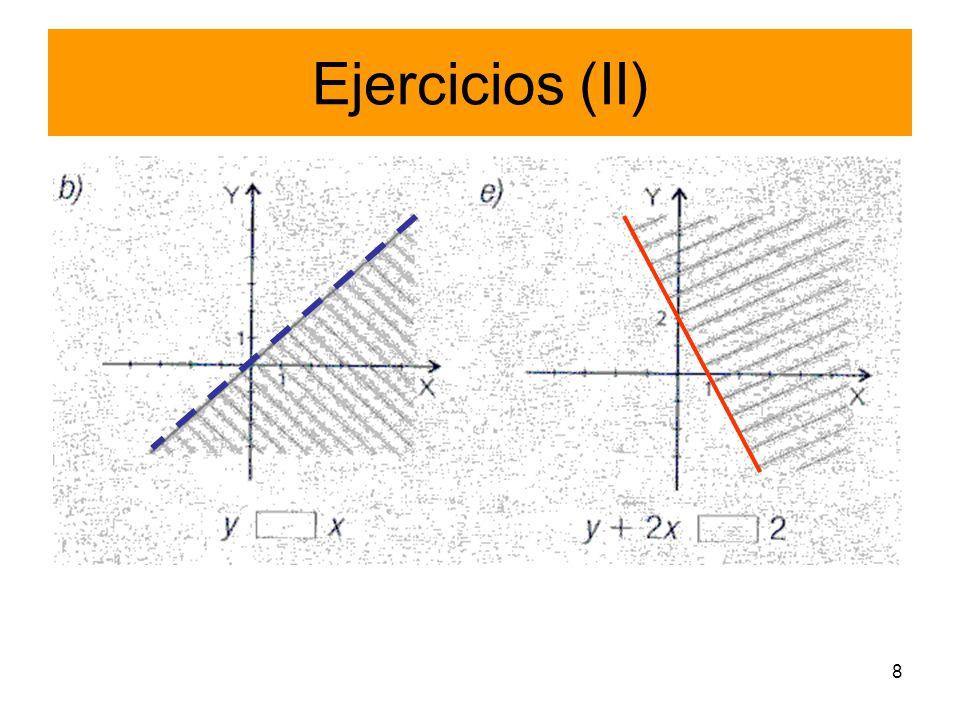 Ejercicios (II)