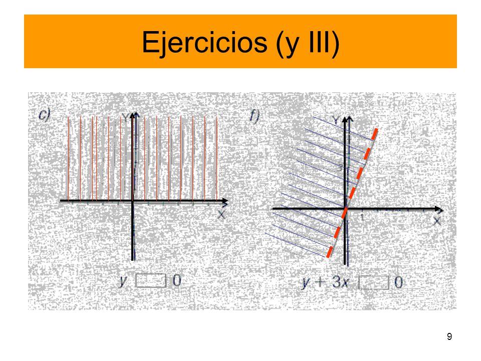 Ejercicios (y III)