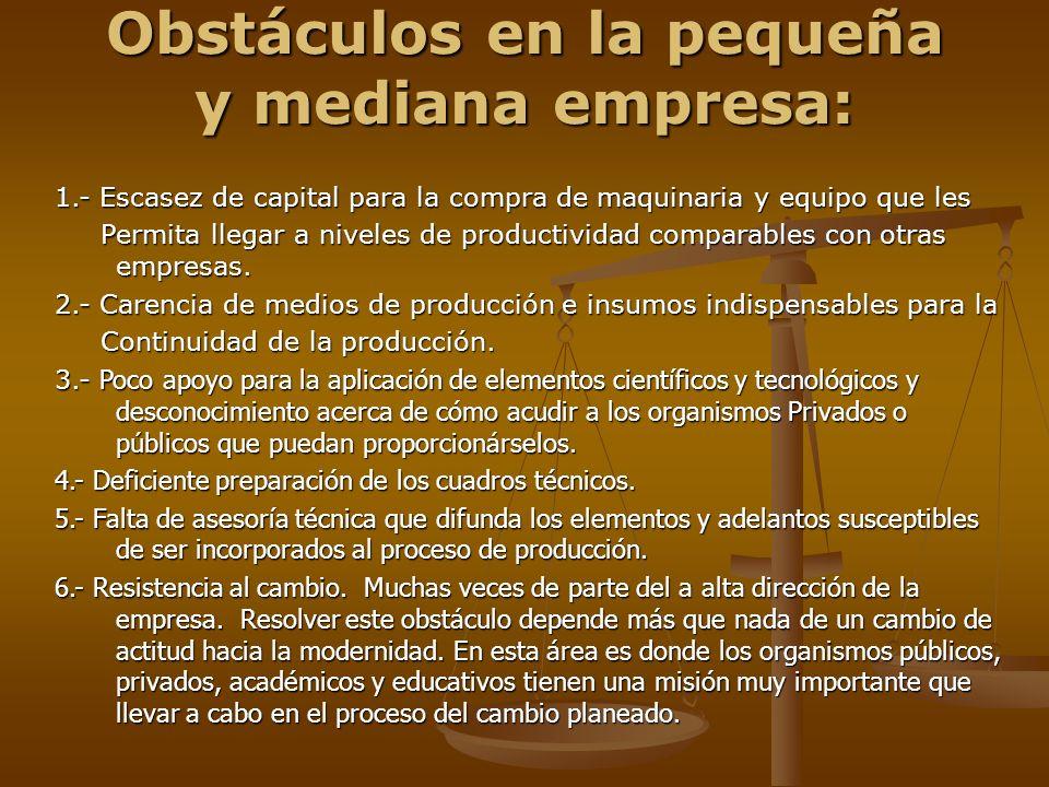 Obstáculos en la pequeña y mediana empresa: