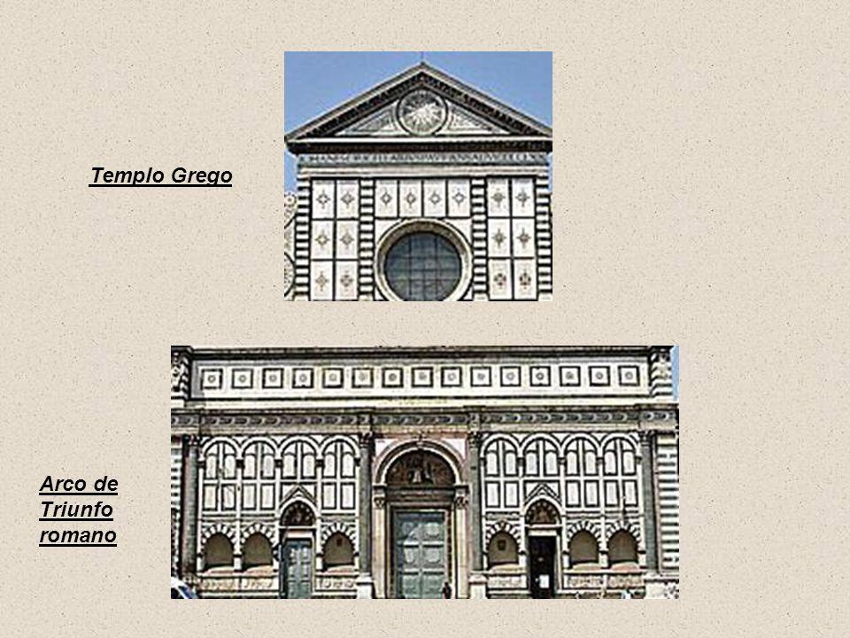 Templo Grego Arco de Triunfo romano