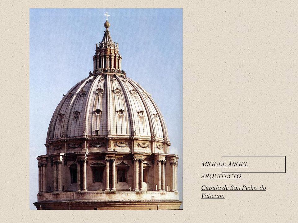 MIGUEL ÁNGEL ARQUITECTO Cúpula de San Pedro do Vaticano