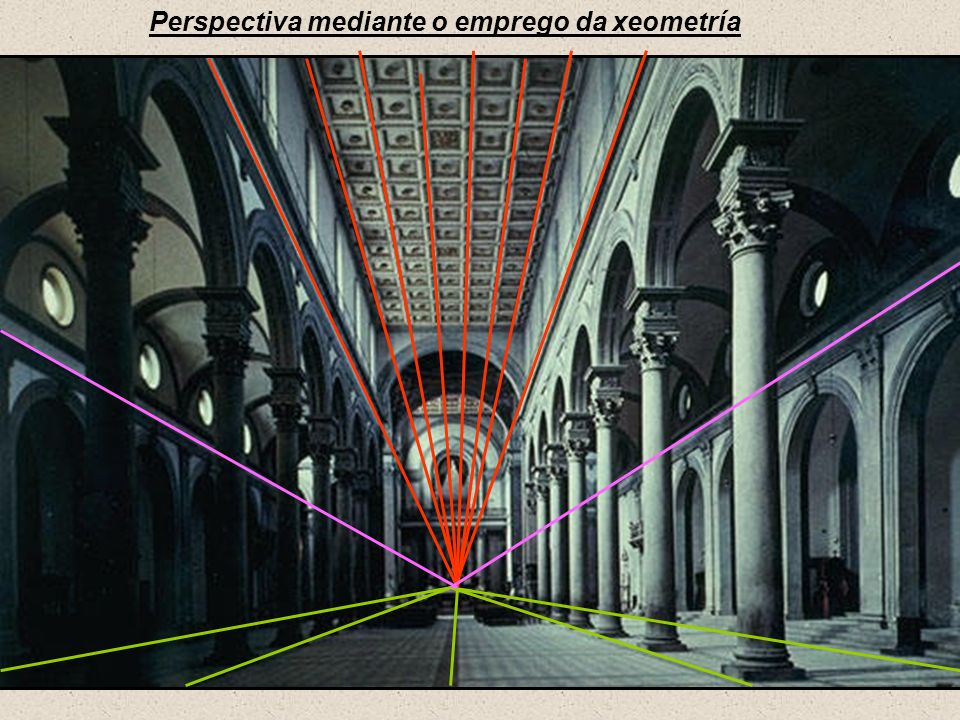 Perspectiva mediante o emprego da xeometría