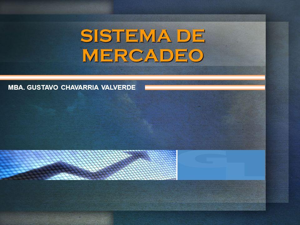 SISTEMA DE MERCADEO MBA. GUSTAVO CHAVARRIA VALVERDE