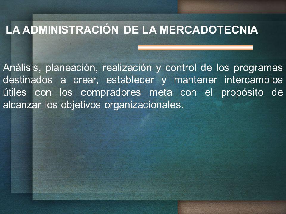 LA ADMINISTRACIÓN DE LA MERCADOTECNIA