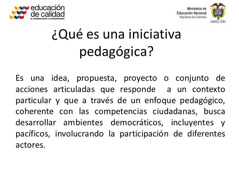 ¿Qué es una iniciativa pedagógica