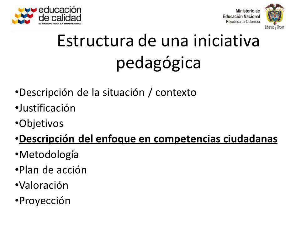 Estructura de una iniciativa pedagógica