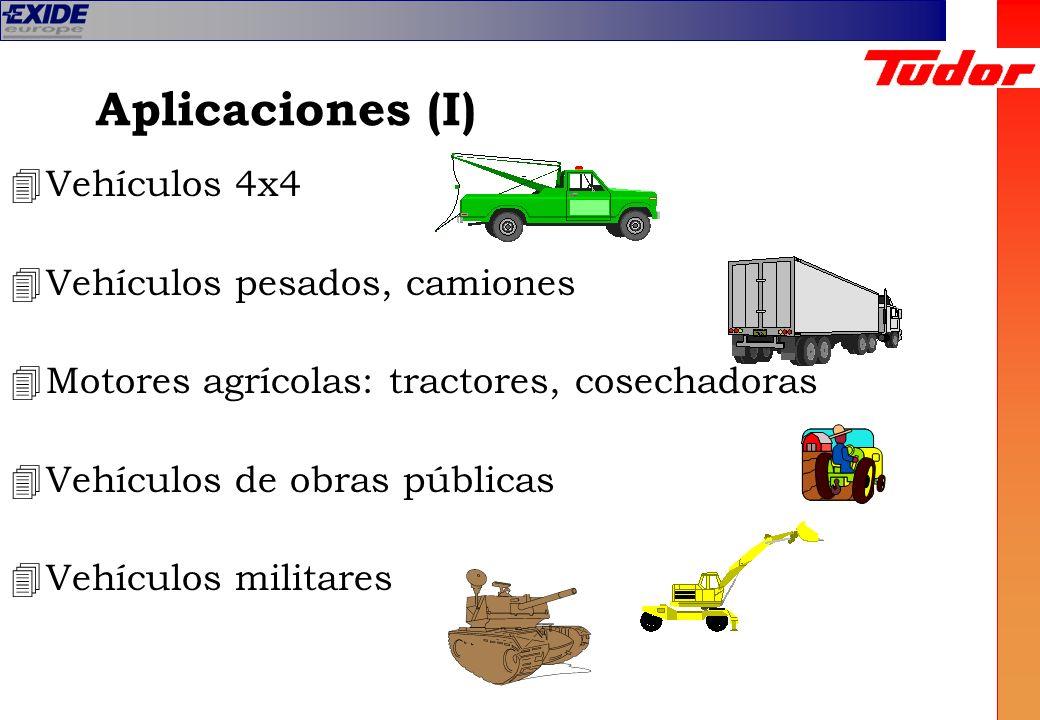 Aplicaciones (I) Vehículos 4x4 Vehículos pesados, camiones
