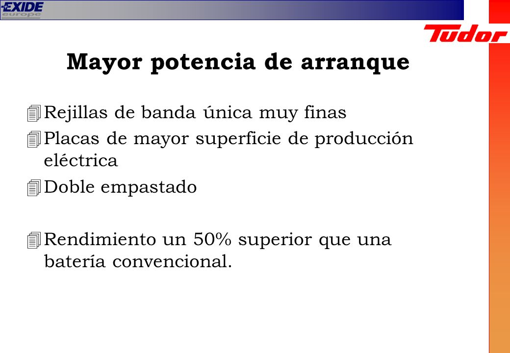 Mayor potencia de arranque