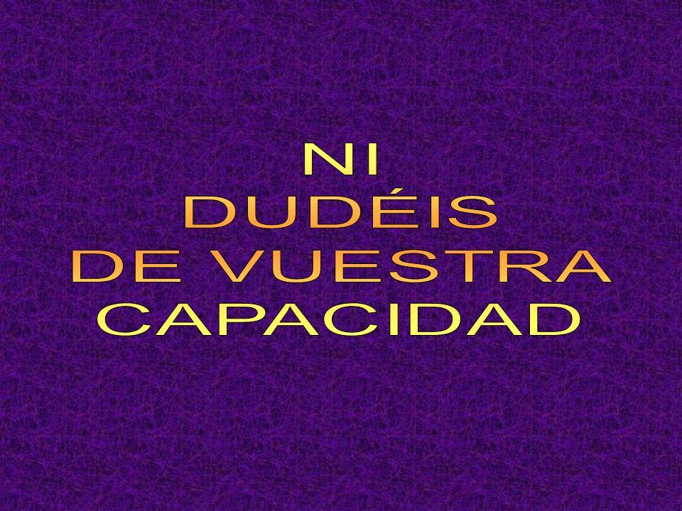 NI DUDÉIS DE VUESTRA CAPACIDAD