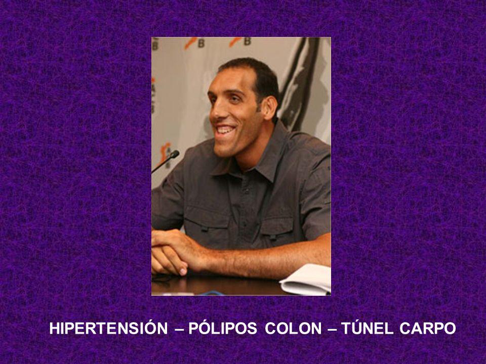 HIPERTENSIÓN – PÓLIPOS COLON – TÚNEL CARPO