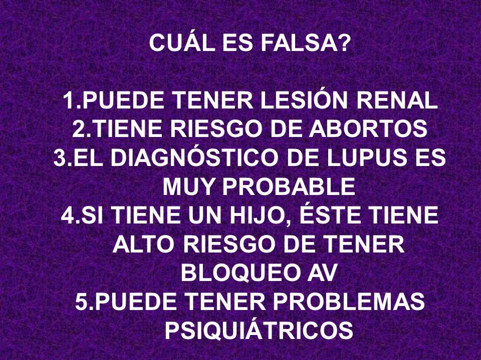 PUEDE TENER LESIÓN RENAL TIENE RIESGO DE ABORTOS