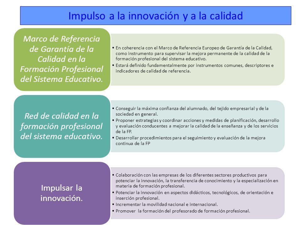 Impulso a la innovación y a la calidad