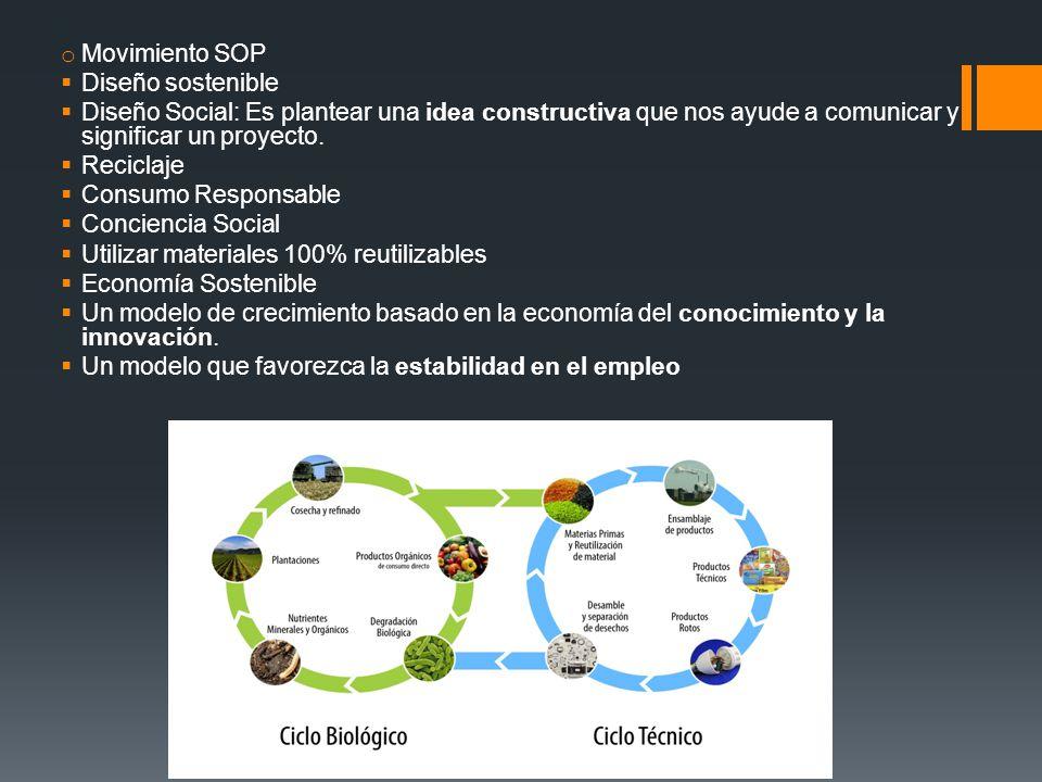 Movimiento SOP Diseño sostenible. Diseño Social: Es plantear una idea constructiva que nos ayude a comunicar y significar un proyecto.